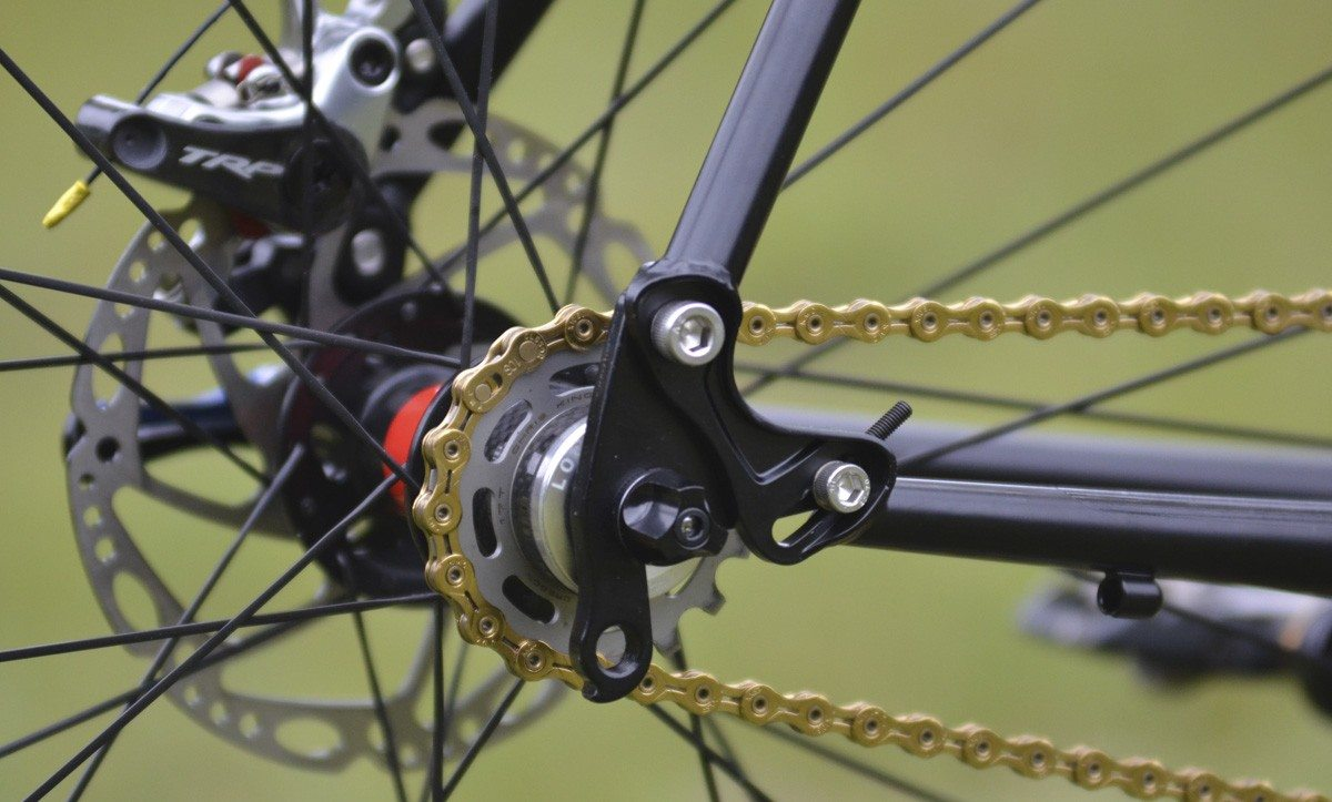 Speed single horizontal dropouts chain tensioner DIY: Convert